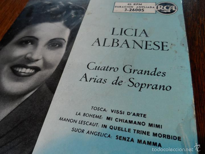 Discos de vinilo: LILY PONS Y LICIA ALBANESE, 2 GRANDES DE LA ÓPERA. 2 EPS, 45 RPM, ODEÓN Y R.C.A. - Foto 3 - 57263373