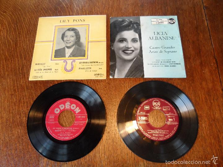 Discos de vinilo: LILY PONS Y LICIA ALBANESE, 2 GRANDES DE LA ÓPERA. 2 EPS, 45 RPM, ODEÓN Y R.C.A. - Foto 6 - 57263373