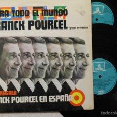 Discos de vinilo: FRANCK POURCEL PARA TODO EL MUNDO Y EN ESPAÑA 2LP DOBLE VINILOS MADE IN SPAIN 1975. Lote 57264552