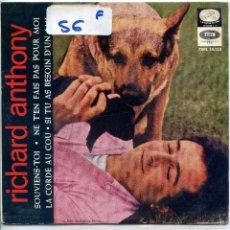 Discos de vinilo: RICHARD ANTHONY / SOUVIENS-TOI + 3 (EP 1964). Lote 57269347