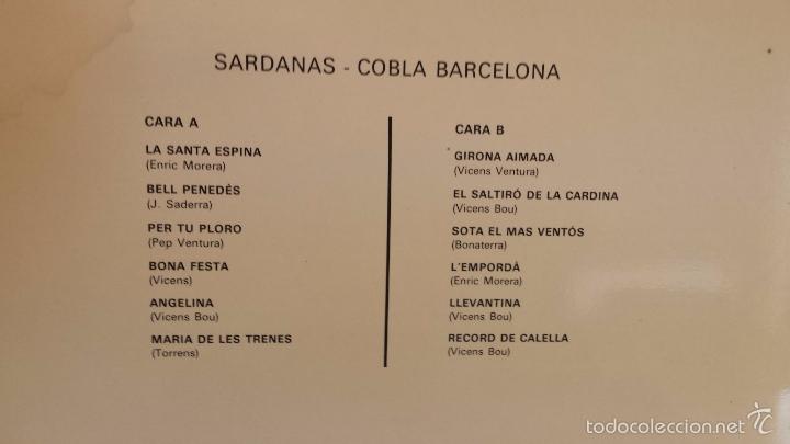 Discos de vinilo: COBLA BARCELONA. SARDANAS. LP / PALOBAL - 1967 / MBC. **/*** - Foto 2 - 57274470