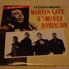 Discos de vinilo: MARVIN GAYE & SMOKEY ROBINSON ( GREATEST HITS ) TRIPLE LP33 CANADA-1987 MOTOWN RECORDS. Lote 57275149