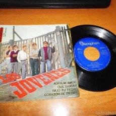 Discos de vinilo: LOS JOVENES ADIOS MI AMOR / QUE LLORAR / BAJO TU TECHO / CORAZON DE PIEDRA EP VINILO 1965 DISCOPHON . Lote 57275483