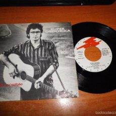 Discos de vinilo: RUPER ORDORIKA EZ DA POSIBLE / ENE BEGIEK SINGLE VINILO 1990 ESPAÑA CONTIENE 2 TEMAS. Lote 57275970