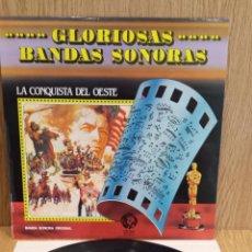 Discos de vinilo: B.S.O. / LA CONQUISTA DEL OESTE. GLORIOSAS BANDAS SONORAS. LP / MGM-1981 / LUJO. ****/****. Lote 57276111
