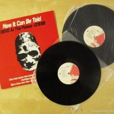 Discos de vinilo: DEVO - NOW IT CAN BE TOLD (LIVE) - DOBLE ALBUM VINILO ORIGINAL 1989 EDICION ENIGMA RECORDS USA. Lote 57279644