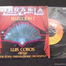 Discos de vinilo: LUIS COBOS DIRIGE THE ROYAL PHILHARMONIC ORCHESTRA-DISCO SINGLE-SG14-ZARZUELA SELECCION 2-1982. Lote 57281749