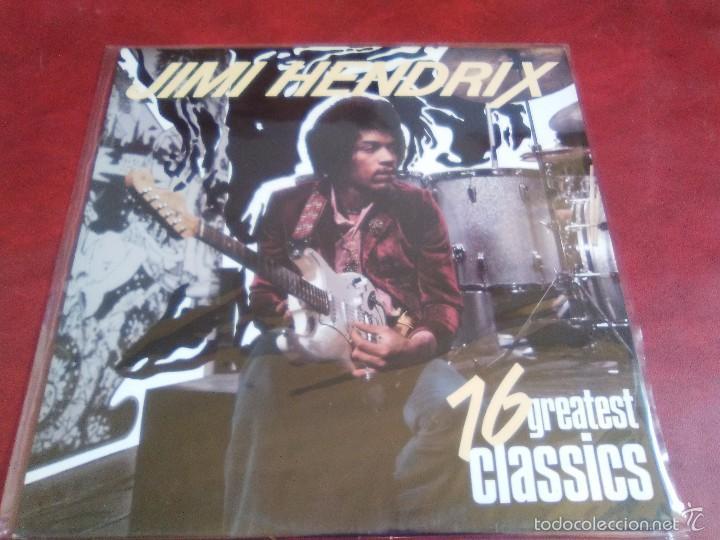 JIMI HENDRIX 16 GREATEST HITS. (Música - Discos - LP Vinilo - Pop - Rock Extranjero de los 50 y 60)