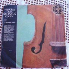 Discos de vinilo: HISTORIA DE LA MÚSICA CODEX XVIII LA MÚSICA DE VIOLÍN SINGLE 1965. Lote 57289128