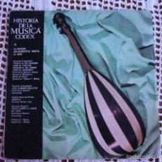 Discos de vinilo: HISTORIA DE LA MÚSICA CODEX IX LA MÚSICA INSTRUMENTAL HASTA 1600 SINGLE 1965. Lote 57289232