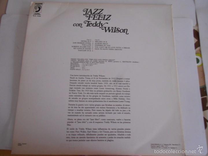 Discos de vinilo: TEDDY WILSON-LP JAZZ FELIZ ESPAÑOL 1972-NUEVO - Foto 2 - 57289478