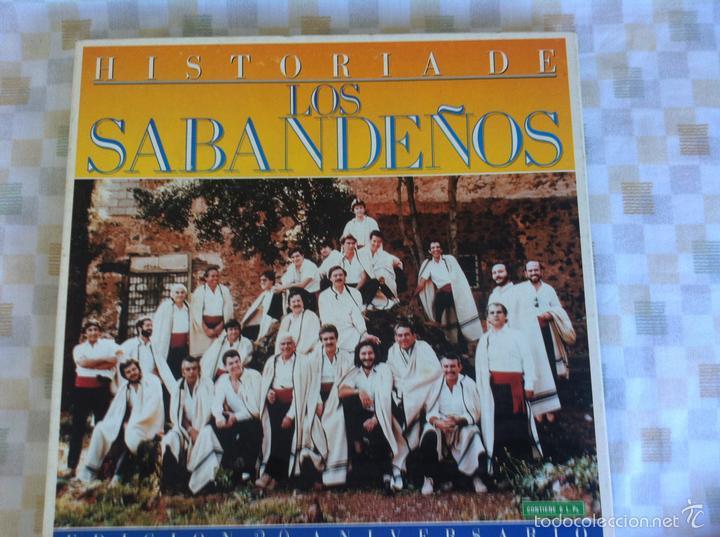 LP 6 LOS SABANDEÑOS-EDICION 20 ANIVERSARIO-HISTORIA DE LOS SABANDEÑOS (Música - Discos - LP Vinilo - Grupos Españoles de los 70 y 80)