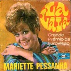 Discos de vinilo: MARIETTE PESSANHA - EP VINILO 7'' - EDITADO EN ESPAÑA - LA LA LA (EUROVISION 1968 EN PORTUGUÉS) + 3. Lote 57302344
