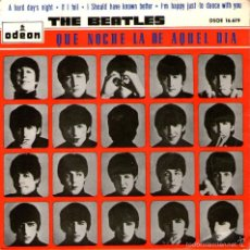 "Discos de vinilo: THE BEATLES - EP-SINGLE VINILO 7"" - EDITADO EN ESPAÑA - A HARD DAY'S NIGHT + 3 - ODEON 1964. Lote 57302436"