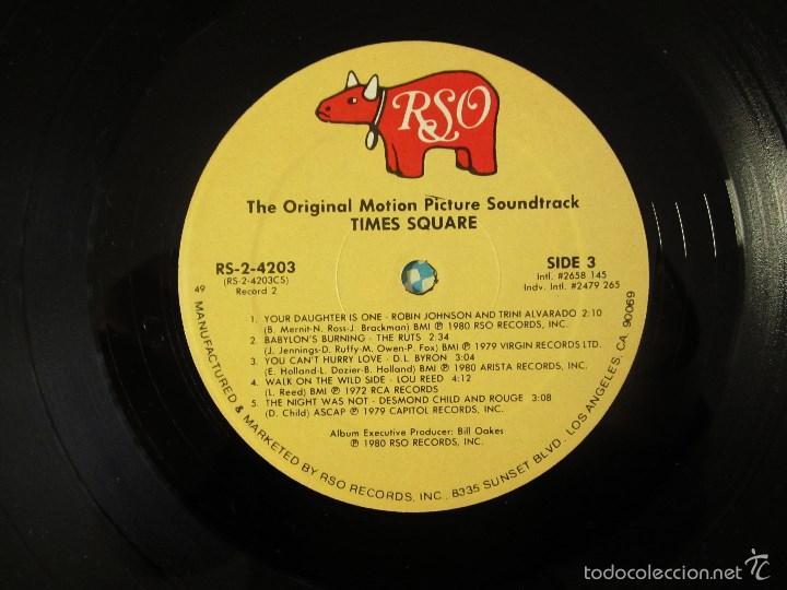 Discos de vinilo: ORIGINAL MOTION PICTURE SOUNDTRACK - TIMES SQUARE - DOBLE ALBUM VINILO ORIGINAL 1980 RSO RECORDS USA - Foto 12 - 57302730