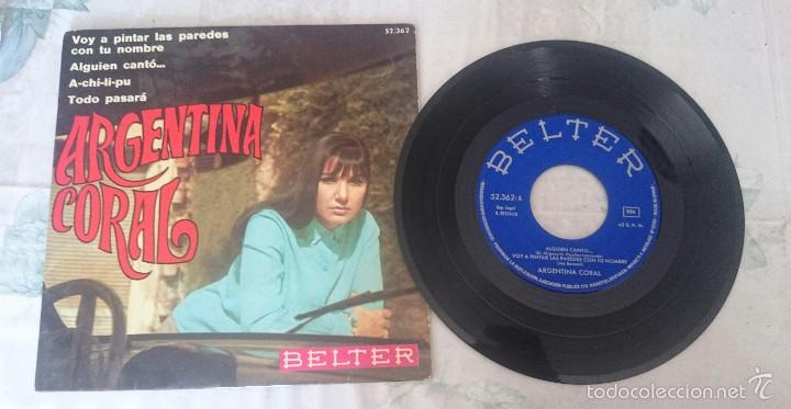 ARGENTINA CORAL : A-CHI-LI-PU + 3(BELTER 1970) (Música - Discos de Vinilo - Maxi Singles - Flamenco, Canción española y Cuplé)