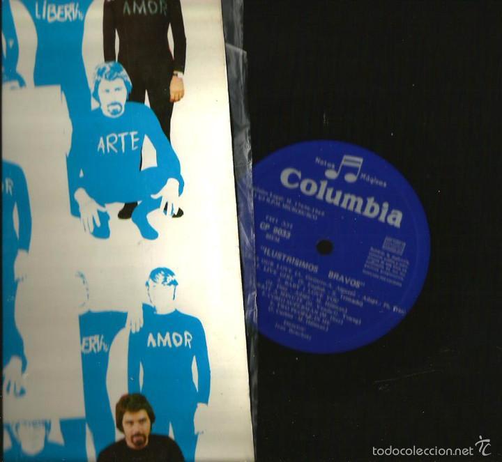 Discos de vinilo: LP LOS BRAVOS : ILUSTRISIMOS BRAVOS ( EDICION ORIGINAL COLUMBIA, DEL AÑO 1969) - Foto 2 - 57303220