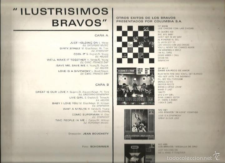 Discos de vinilo: LP LOS BRAVOS : ILUSTRISIMOS BRAVOS ( EDICION ORIGINAL COLUMBIA, DEL AÑO 1969) - Foto 3 - 57303220