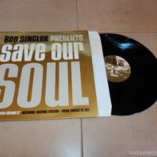 Disques de vinyle: BOB SINCLAIR PRESENTS SAVE OUR SOUL EAST WEST EP VINILO DISCO DANCE TECHNO F5. Lote 188610740