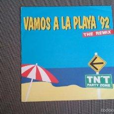Dischi in vinile: TN'T PARTY ZONE-VAMOS A LA PLAYA '92 THE REMIX.MAXI. Lote 57304870