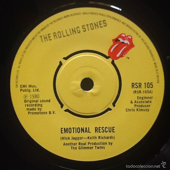 Discos de vinilo: THE ROLLING STONES : EMOTIONAL RESCUE [UK 1980] 7' - Foto 3 - 55056803
