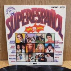 Discos de vinilo: SUPERESPAÑOL. 25 ÉXITOS. DOBLE LP / BELTER - 1978 / MUY BUENA CALIDAD. ***/***. Lote 57309004