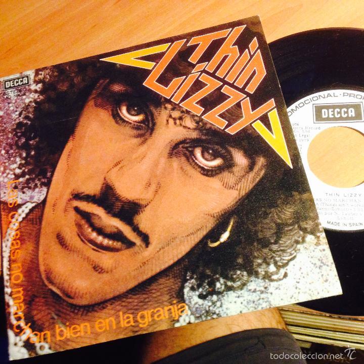 THIN LIZZY (LAS COSAS NO MARCHAN BIEN EN LA GRANJA + 2) EP ESPAÑA 1979 PROMO MO1903 (EPI15) (Música - Discos de Vinilo - EPs - Heavy - Metal)