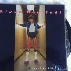 Discos de vinilo: LP LINDA RONSTADT-LIVING IN THE USA. Lote 57313500