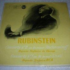 Discos de vinilo: RUBINSTEIN CONCIERTO Nº 2 DO MENOR RACHMANINOFF 1 MI BEMOL LISZT - LP RCA 1958. Lote 57313726