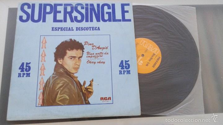 PINO D'ANGIO - UNA NOTTE DE IMPAZZIRE - OKAY OKAY - MAXI SINGLE RCA 1981 - ITALO DANCE (Música - Discos de Vinilo - Maxi Singles - Canción Francesa e Italiana)