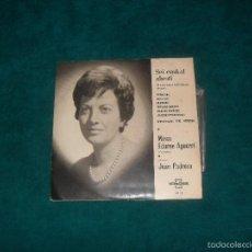 Discos de vinilo: SEI EUSKAL ABESTIAK, MIREN EDURNE AGUERRI, USANDIZAGA 1964, EP 6 TEMAS. Lote 57324160