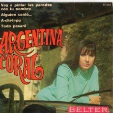 Discos de vinilo: ARGENTINA CORAL, EP, ALGUIEN CANTÓ + 3, AÑO 1970. Lote 57329845