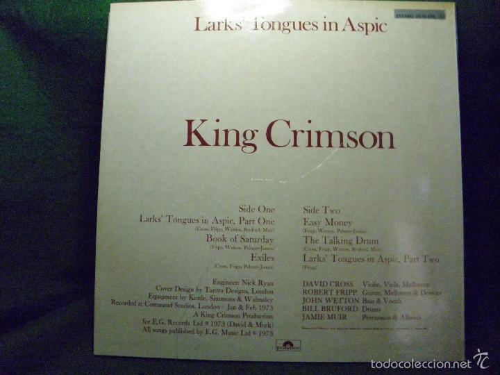 Discos de vinilo: KING CRIMSON - LARKS' TONGUES IN ASPIC - 1980 SPAIN - Foto 2 - 57330591
