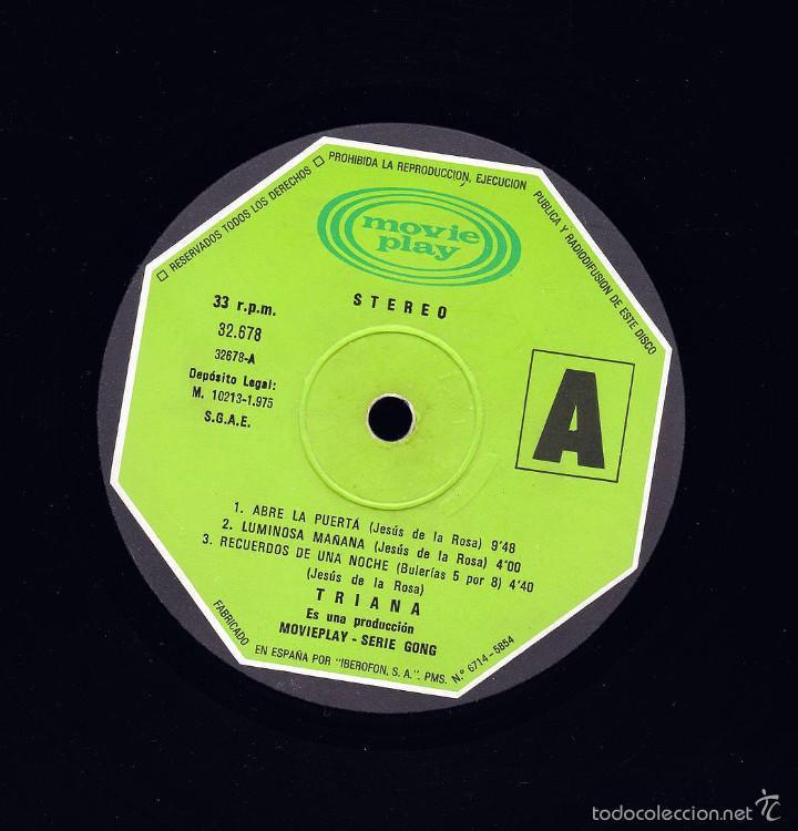 TRIANA 1ER LP SIN PORTADA (S-32.678) MUY USADO. (Música - Discos - LP Vinilo - Grupos Españoles de los 70 y 80)