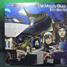 Discos de vinilo: THE MOODY BLUES EN DIRECTO - DOBLE LP - 1977 DECCA ESPAÑA. Lote 57340334