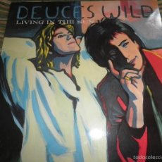 Discos de vinilo: DEUCES WILD - LIVING IN THE SUN LP - ORIGINAL HOLANDES - COLUMBIA 1991 CON FUNDA INT. ORIGINAL. Lote 57340831