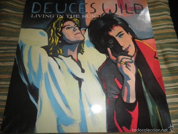Discos de vinilo: DEUCES WILD - LIVING IN THE SUN LP - ORIGINAL HOLANDES - COLUMBIA 1991 CON FUNDA INT. ORIGINAL - Foto 20 - 57340831