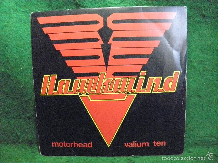 HAWKWIND - MOTORHEAD - VALIUM TEN - SINGLE 1981 (Música - Discos - Singles Vinilo - Heavy - Metal)