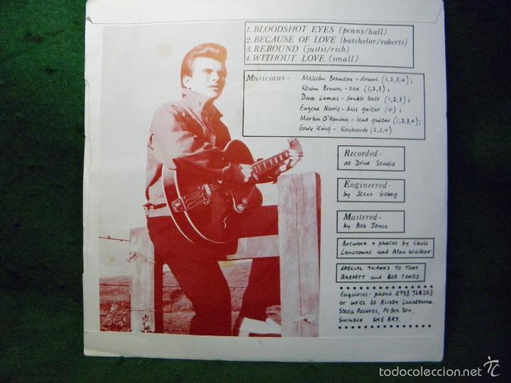 Discos de vinilo: RICKY STORM - BLOODSHOT EYES - SINGLE 1987 UK - Foto 2 - 57342422