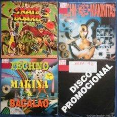 Disques de vinyle: LOTE DE 4 SINGLES PROMO 91 - 92: SKATEBOARD 3, TECHNOMAKINITA 3, AREA 92 MIX, TECHNO+MAKINA&BACALAO. Lote 57343075