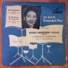 Discos de vinilo: MARIA MENEGHINI CALLAS - MEFISTÓFELES - EL BARBERO DE SEVILLA - LA VOZ DE SU AMO. Lote 57350646