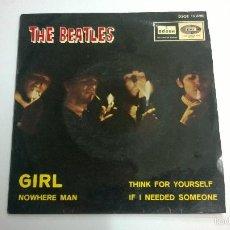 Discos de vinilo: THE BEATLES.NOWHERE MAN.EP.ESPAÑA 1966.LABEL AZUL OSCURO.ODEON.. Lote 235421065