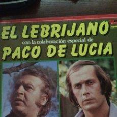 Discos de vinilo: EL LEBRIJANO CON LA COLABORACION ESPECIAL DE PACO DE LUCIA-1970-DISCO COMO NUEVO,SIN USO!!. Lote 57351425