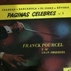 Discos de vinilo: PAGINAS CELEBRES N 1-FRANCK POURCEL Y SU GRAN ORQUESTA-NUEVO. Lote 57353798