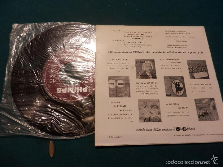Discos de vinilo: PABLO CASALS (PAU CASALS) FESTIVAL DE PRADES (SANT MARTÍ DEL CANIGO+CANT DELS OCELLS+NANA, DE FALLA - Foto 2 - 57356483