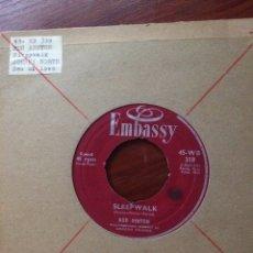 Discos de vinilo: JOHNNY WORTH/BUD ASHTON-SEA OF LOVE/SLEEPWALK-1959-RARO-PORTADA RADIO. Lote 57359103