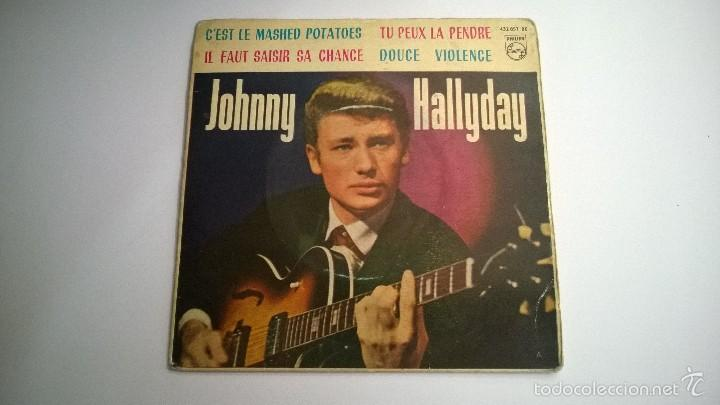 JOHNNY HALLYDAY.CÉST LE MASHED POTATOES.EP.ESPAÑA 1963.PHILIPS. (Música - Discos de Vinilo - EPs - Rock & Roll)