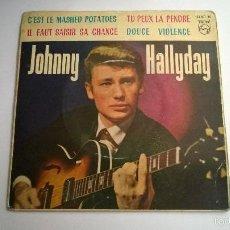 Discos de vinilo: JOHNNY HALLYDAY.CÉST LE MASHED POTATOES.EP.ESPAÑA 1963.PHILIPS.. Lote 57361835