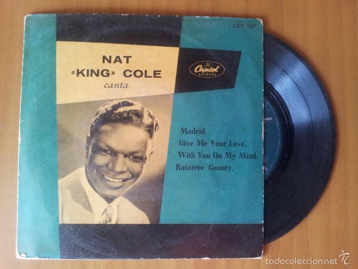 NAT KING COLE / MADRID / GIVE ME YOUR LOVE + 2 (EP 1959) (Música - Discos - Singles Vinilo - Pop - Rock Extranjero de los 50 y 60)