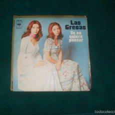 Discos de vinilo: LAS GRECAS, YO NO QUIERO PENSAR, CBS 1975. Lote 57374319